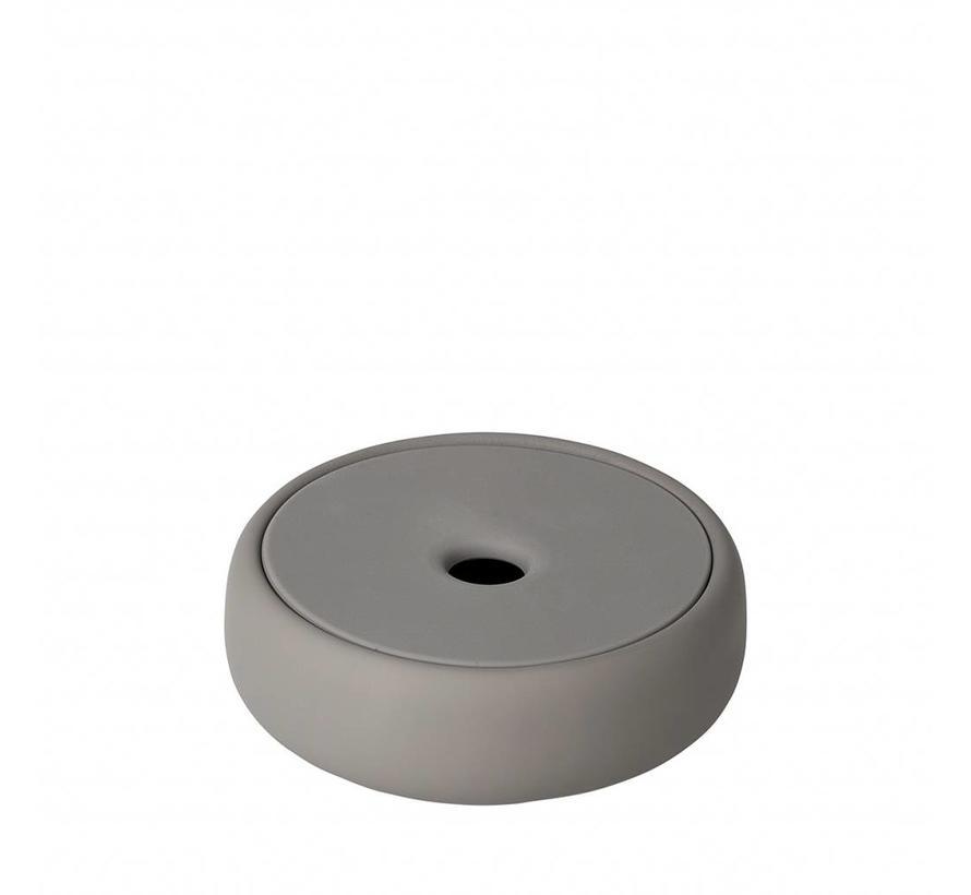 Opbergbox /zeepschaal SONO  kleur Satellite, taupe (69049) Ø12 cm