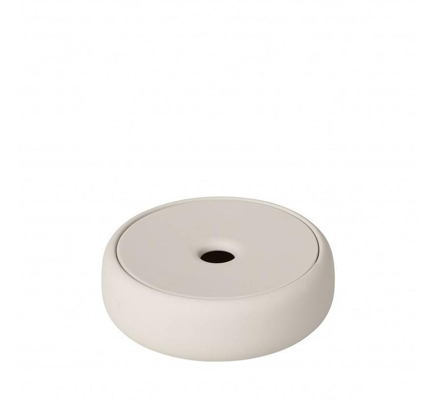 Opbergbox /zeepschaal SONO  kleur Moonbeam, light stone (69058) Ø12 cm
