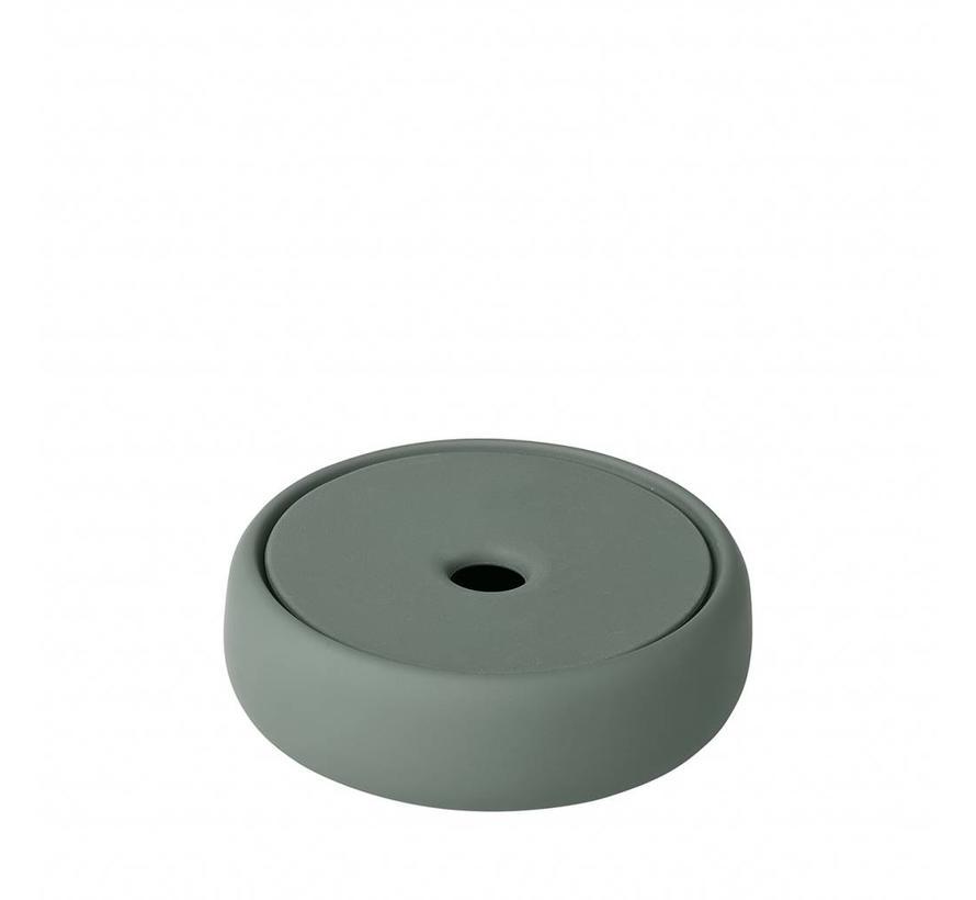 Opbergbox /zeepschaal SONO  kleur Agave Green, groen (69074) Ø12 cm