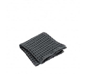 Blomus Toalla para invitados (set / 2) CARO 30x30 cm Imán (gris oscuro)