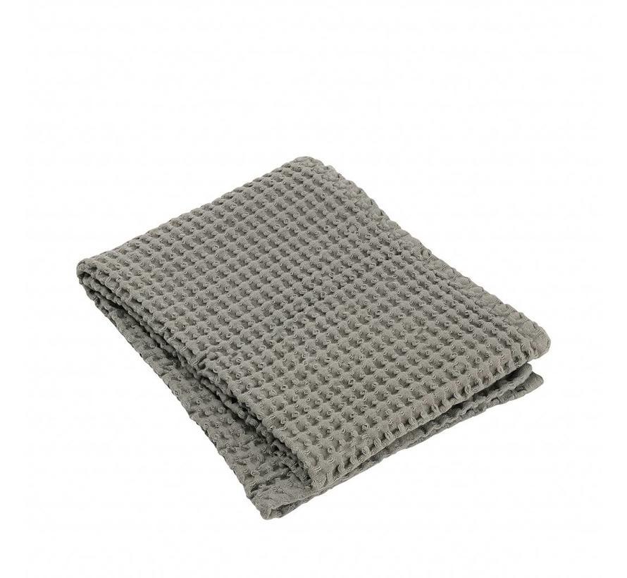 Handdoek wafelpatroon 50x100 cm CARO kleur Satellite, taupe, 400 gr/m² (69002)