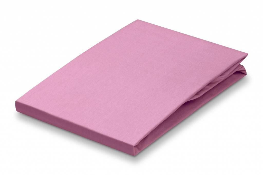 drap housse 80x200 coton Drap housse Vandyck, 80x200 cm couleur Rose 010, rose   coton  drap housse 80x200 coton