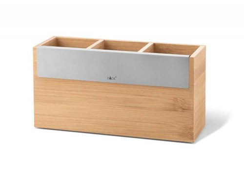 ZACK SCARTA wooden storage box 24x8cm (3 compartments)