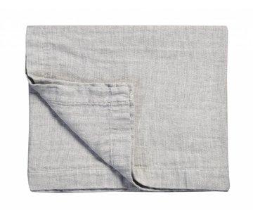Vandyck PURE 22 plaid / sengetæppe 180x260 cm Grå-011 (bomuld / linned)