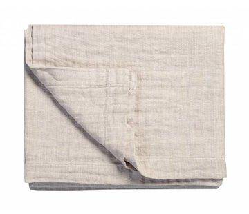 Vandyck PURE 22 plaid / sengetæppe 180x260 cm Sand-048 (bomuld / linned)
