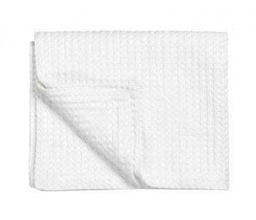 Vandyck Pique waffle blanket HOME White-090 (white)