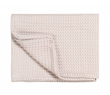 Vandyck Pique waffle blanket HOME Powder-115 (soft pink)