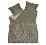 Vandyck MAZE dekbedovertrek 140x220 cm Olive-113 (satijnkatoen)