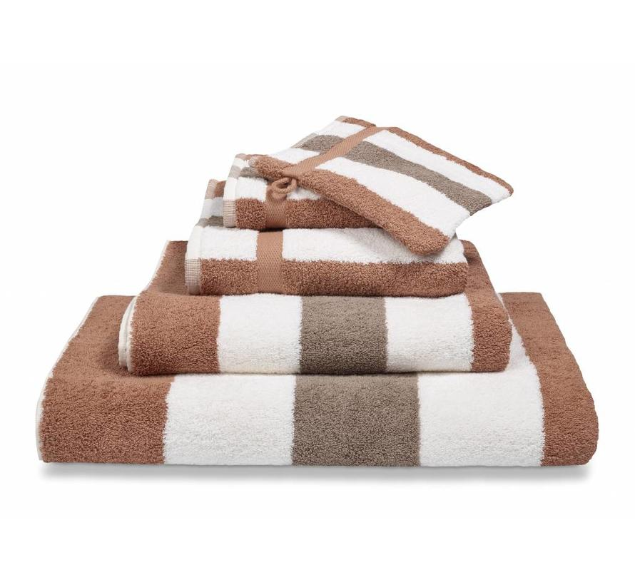 VANCOUVER bathroom textiles color Cinnamon (CO027) wide stripes