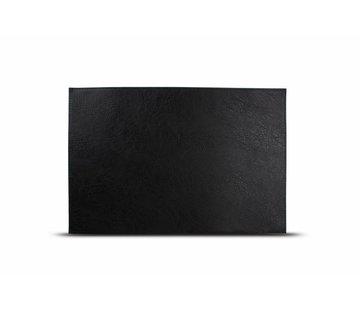 S&P Placemat læder look sort (sæt / 4)