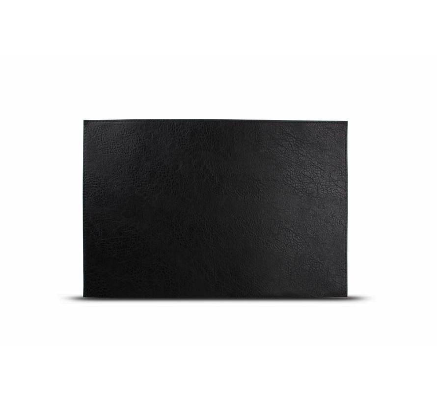 Placemat lederlook kleur zwart (set/4) 805083