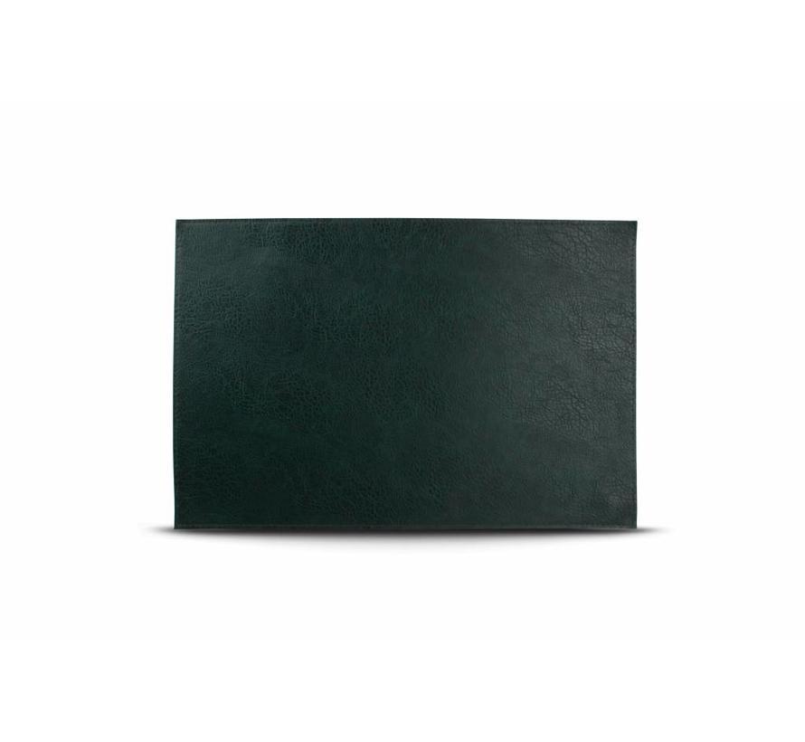 Placemat lederlook kleur groen (set/4) 805082