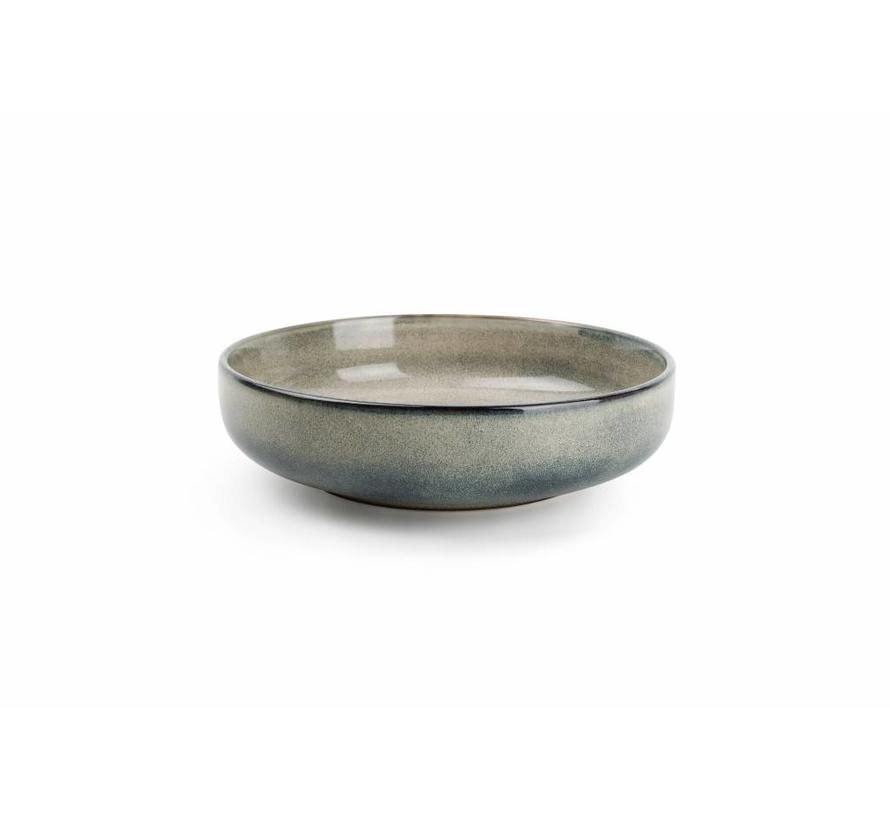 MERIDIAN pastabord Ø 22cm grijsgroen (set/4) 850602