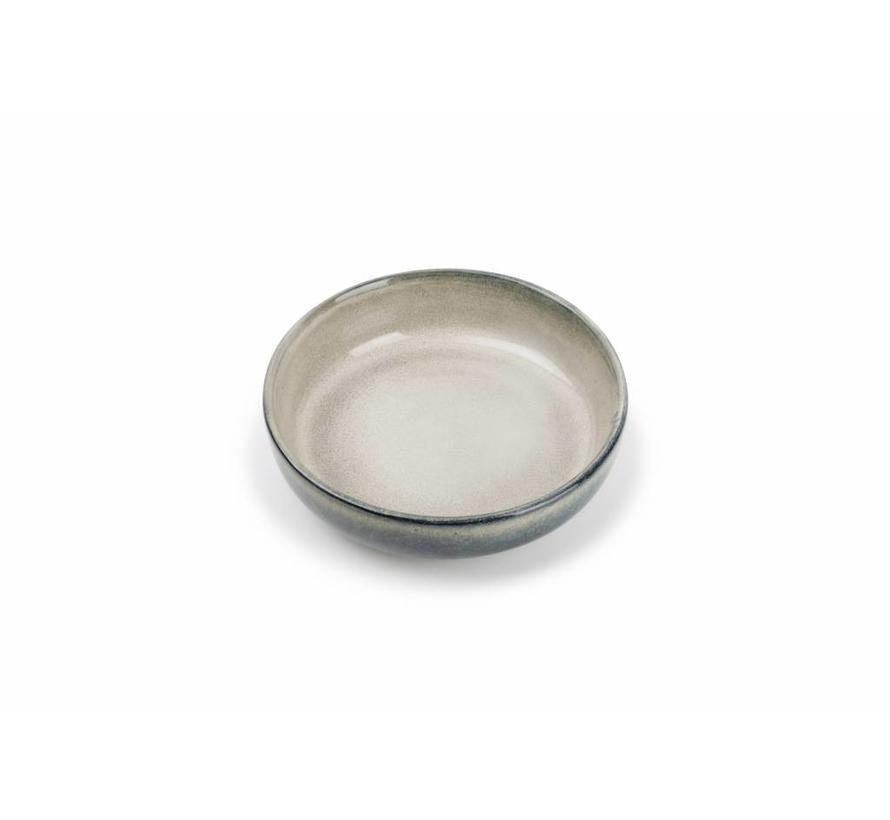 MERIDIAN diep bord Ø 17,5cm grijsgroen (set/4) 850606