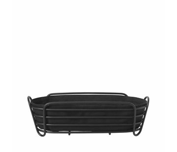 Blomus DELARA bread basket 32x14 cm (Black)