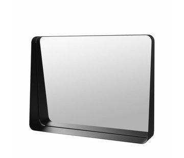 Blomus Espejo de pared ARCO 60x45 cm (negro)
