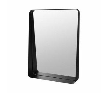 Blomus Espejo de pared ARCO 45x60 cm (negro)