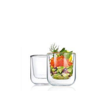 Blomus Dubbelwandig glas NERO espresso (set/2)