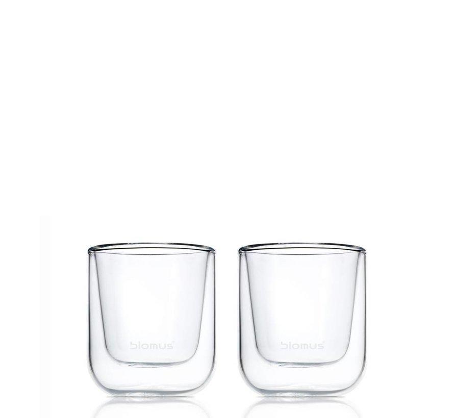Dubbelwandig glas NERO espresso (set/2) 63652