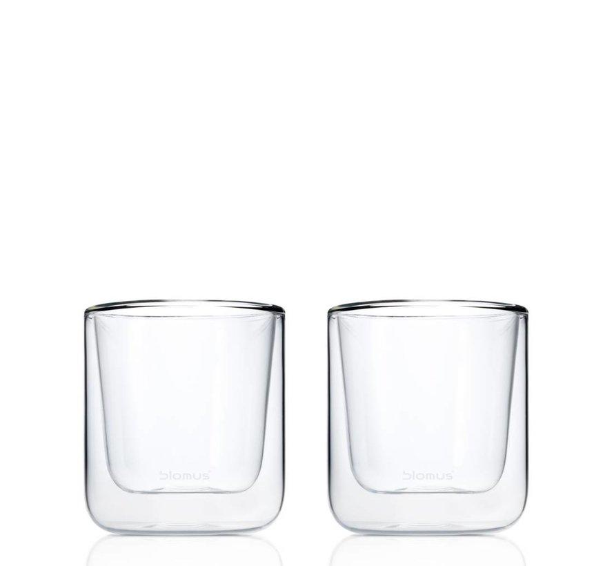 Dubbelwandig glas NERO koffie (set/2) 63653