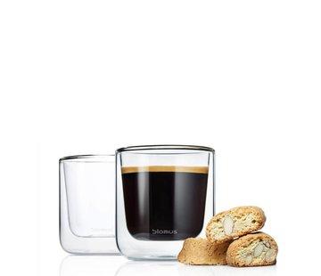 BLOMUS Dubbelwandig glas NERO koffie (set/2)