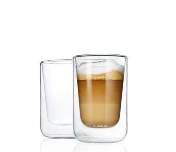 BLOMUS Dubbelwandig glas NERO cappucino (set/2)