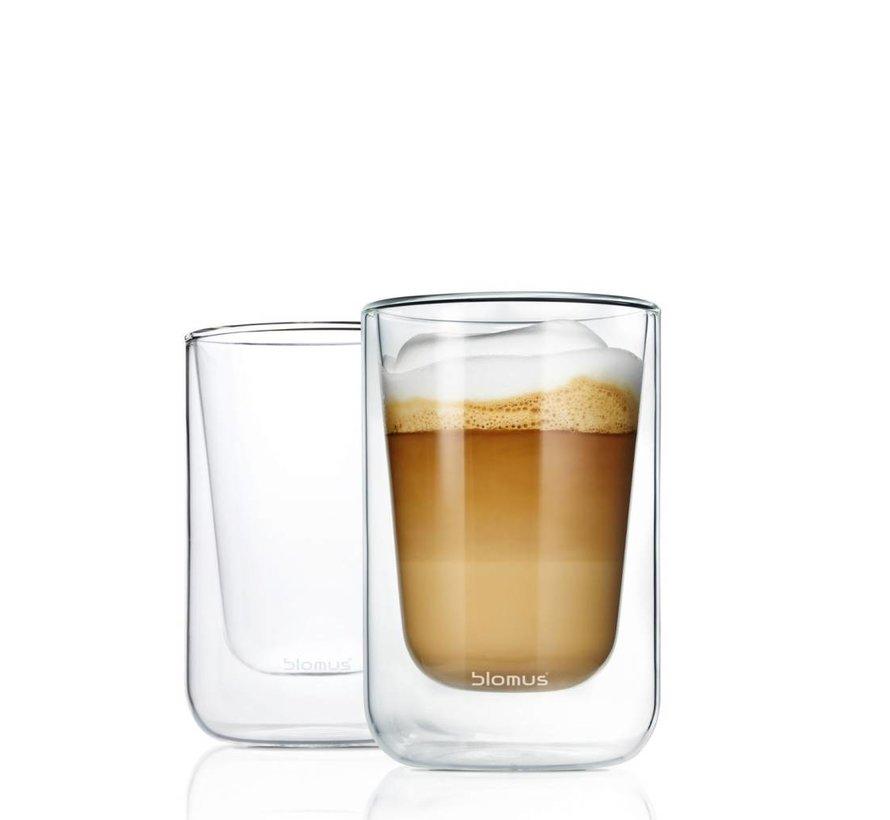 Dubbelwandig glas NERO cappucino (set/2) 63654