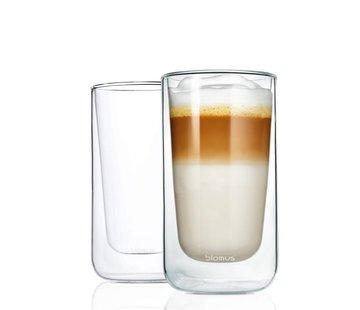 BLOMUS Dubbelwandig glas NERO latte macchiato (set/2)