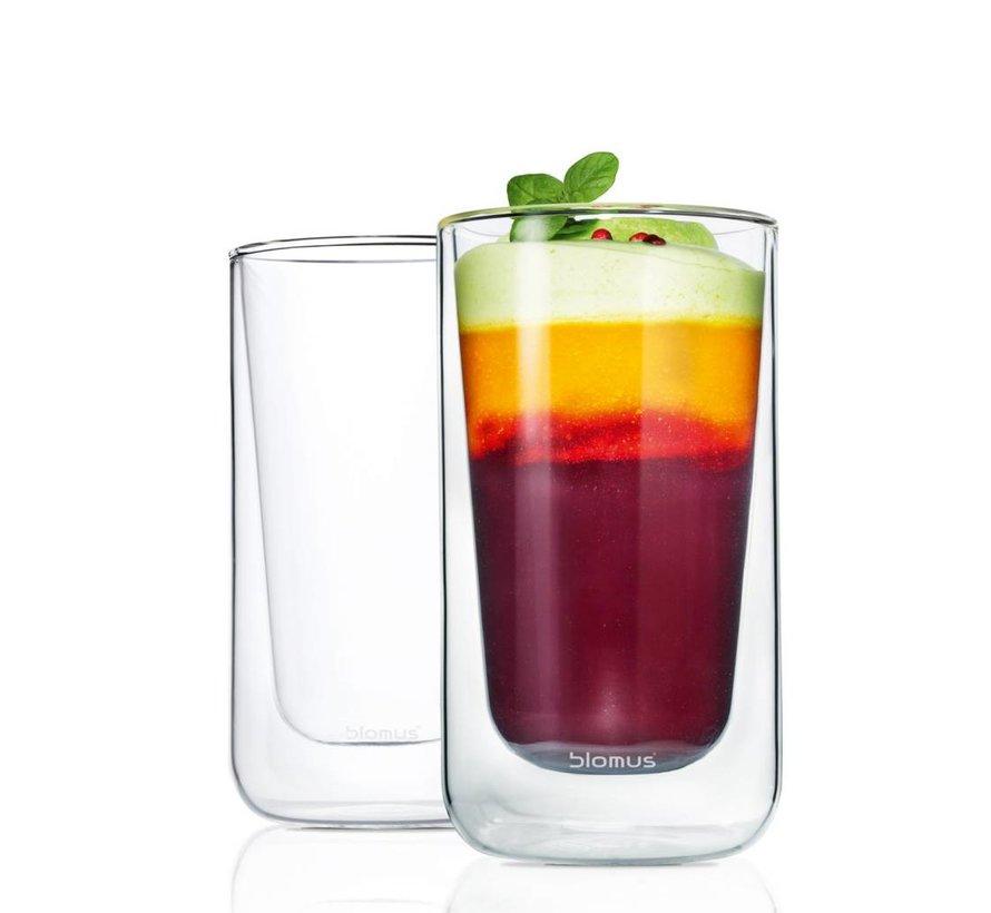 Dubbelwandig glas NERO latte macchiato (set/2) 63655