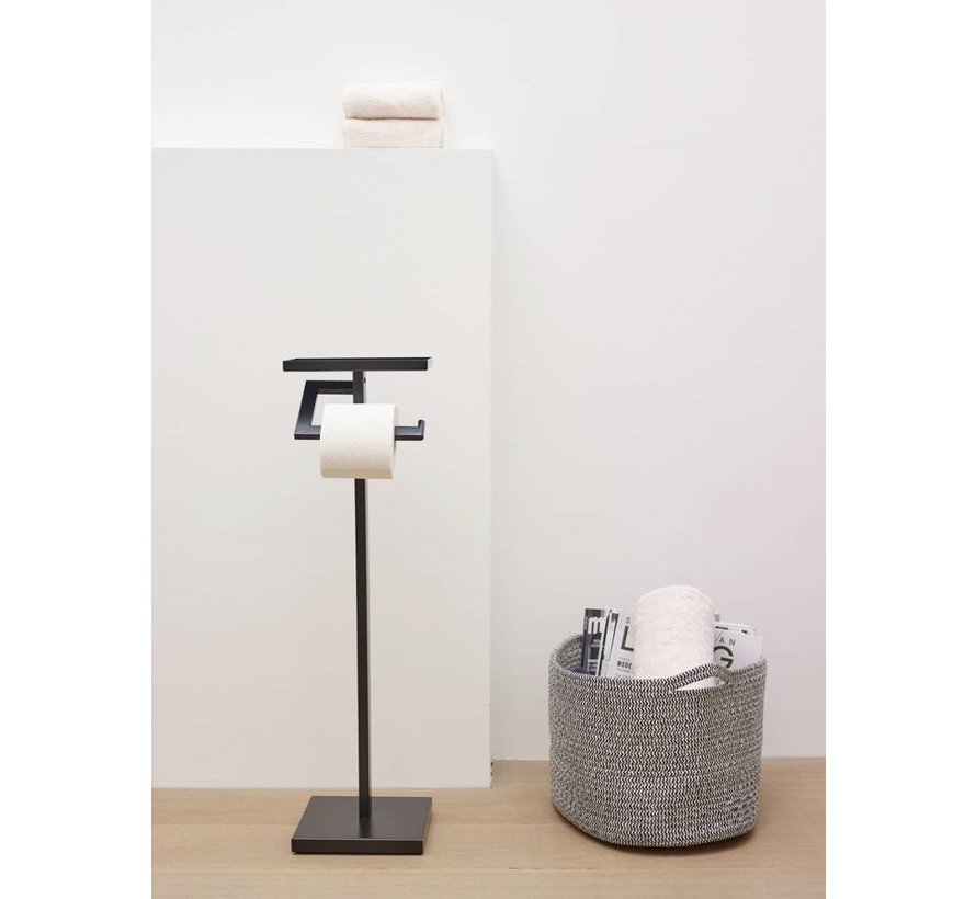 Toiletrolhouder MOON Black-09, zwart (MOORXH-09)