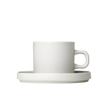 Blomus MIO 2 200ml coffee cups with Moonbeam saucer