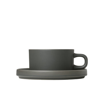Blomus MIO 2 tea cups 170ml with saucer Agave Green