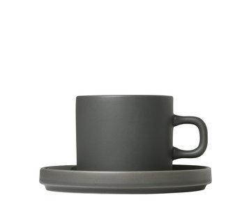 Blomus MIO 2 koffiekoppen 200ml met schotel Agave Green