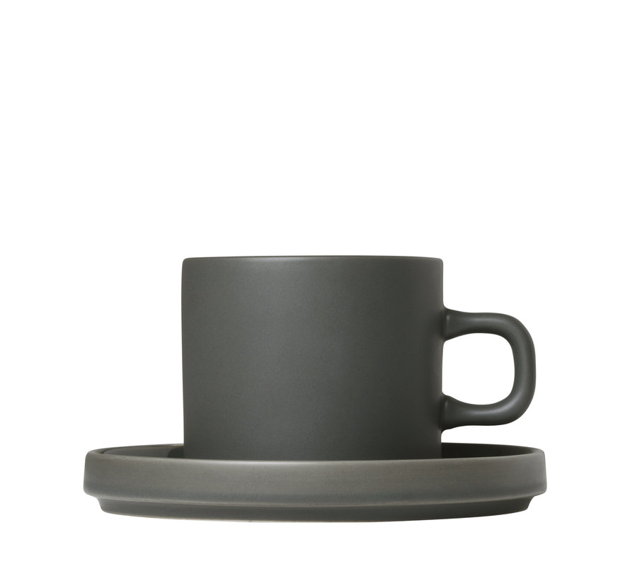 MIO 2 200 ml coffee cups with Agave Green saucer (63909)