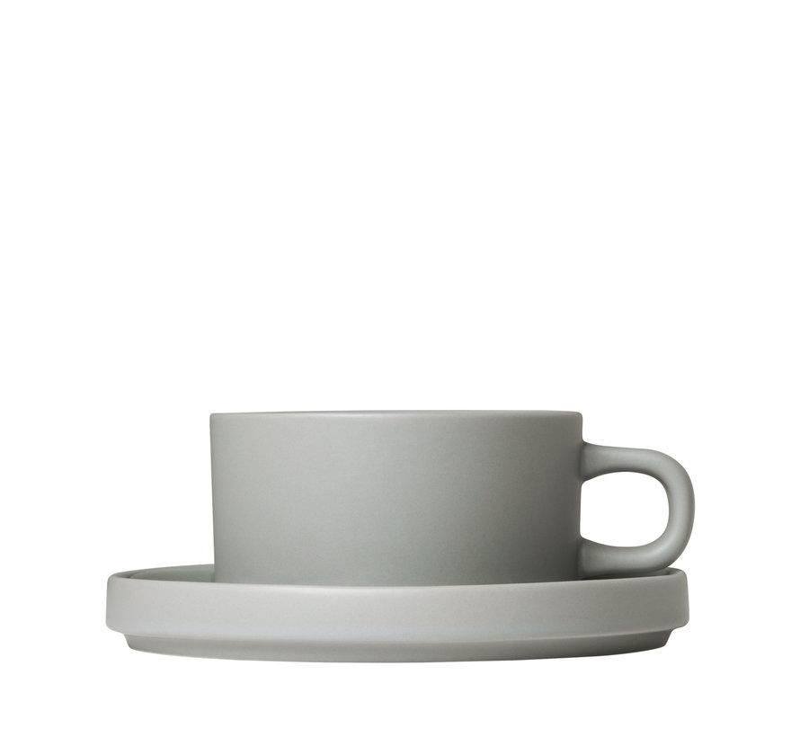 Tazas de té MIO 2 de 170 ml con platillo Mirage Grey (63912)
