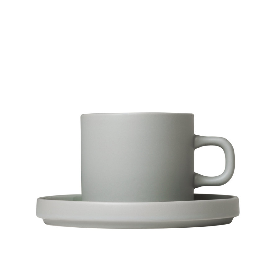 MIO 2 200 ml coffee cups with saucer Mirage Gray (63911)