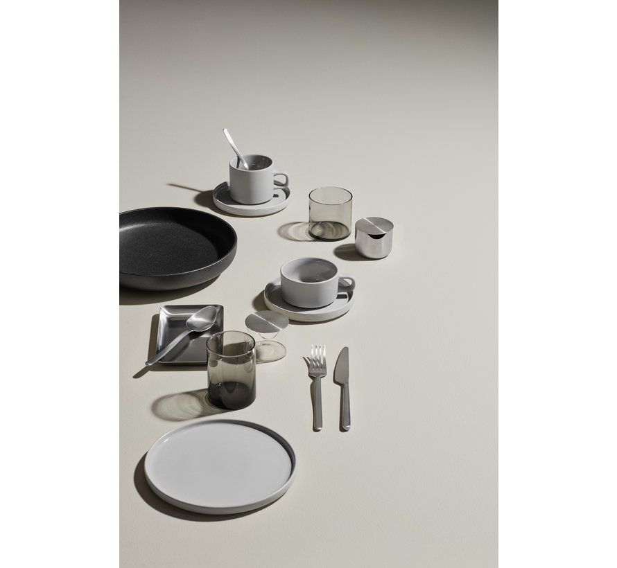 MIO 2 tazas de café de 200 ml con platillo Mirage Grey (63911)