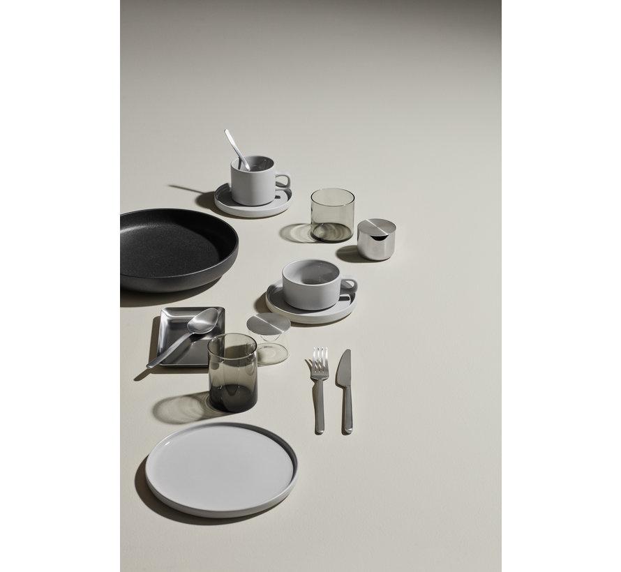 MIO 2 tazas de café de 200 ml con platillo Mirage Grey (63911)