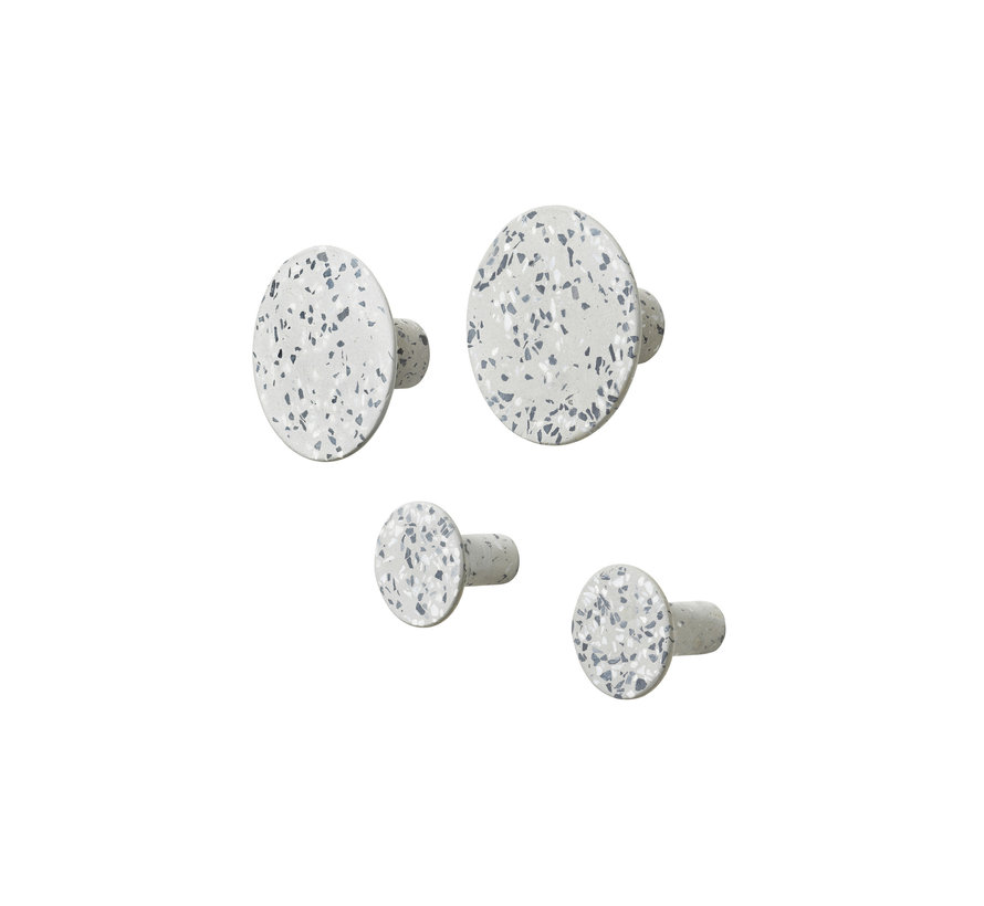 PONTO terrazzo gray wall hooks (set / 4) 65900