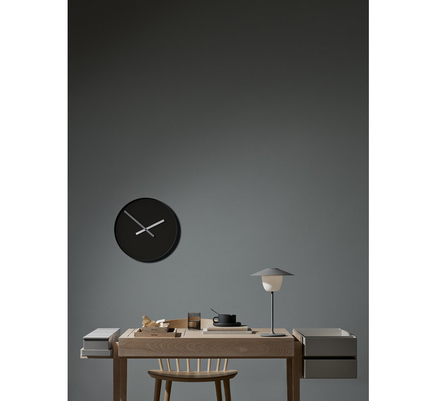RIM wall clock 40 cm (steel gray) 65911