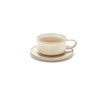 S&P RELIC cup and saucer 260 ml natural (set / 4)