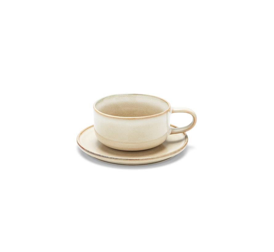 RELIC kop og tallerken 260 ml naturlig (sæt / 4) - SP47449