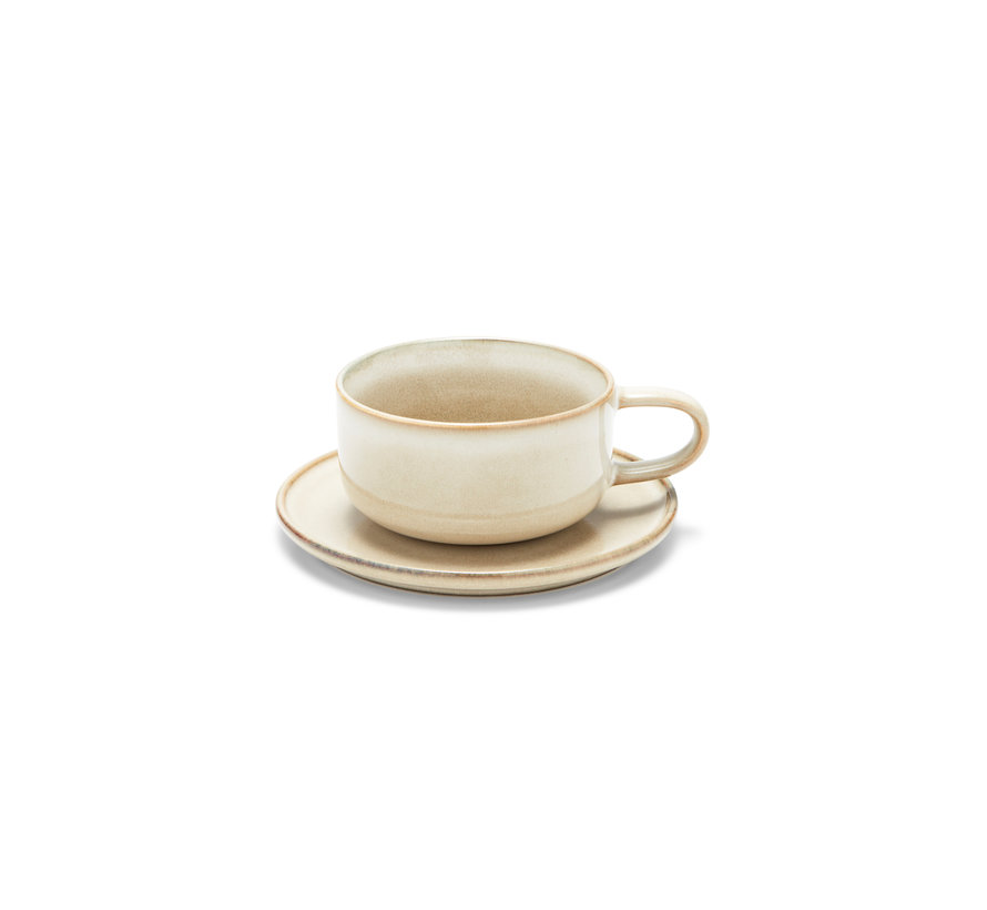 Taza y platillo RELIC 260 ml natural (juego / 4) - SP47449