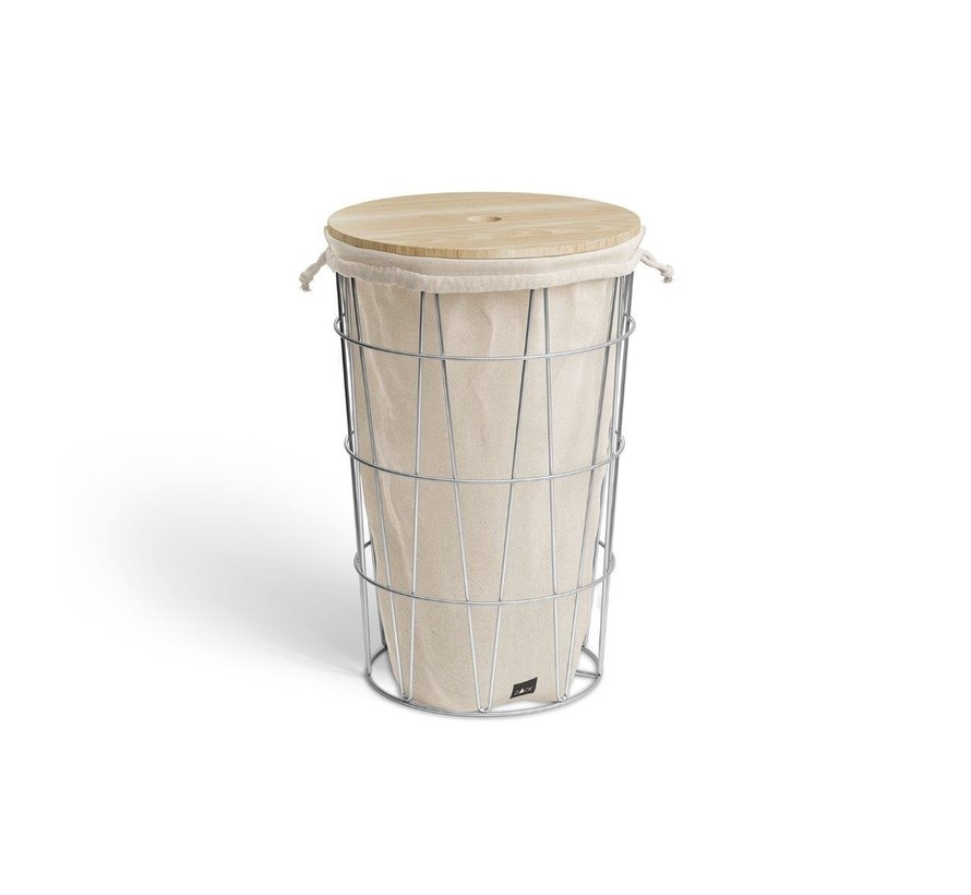 SATONE wooden lid for laundry basket - 40440D