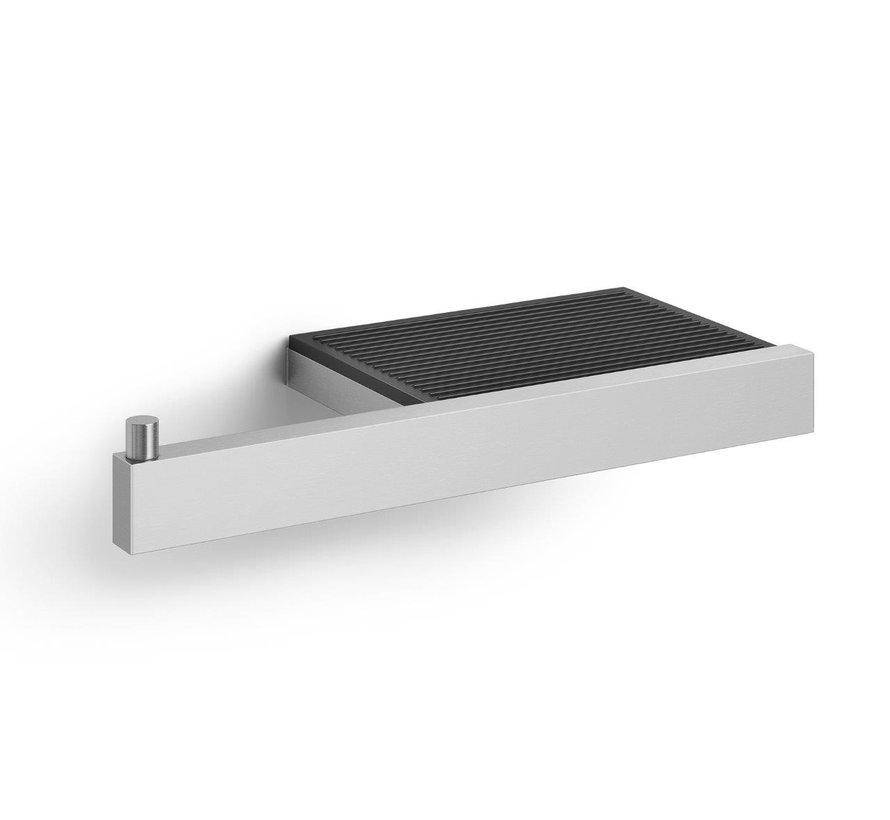LINEA toiletrolhouder met planchet 40376 (mat)