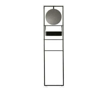 Aquanova Wall rack with mirror JAX Black-09
