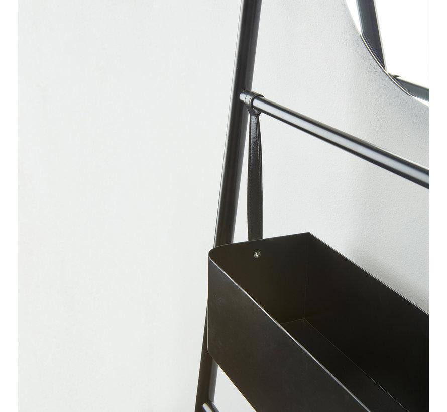 Estante de pared con espejo JAX Black-09 (JAXWRM-09)