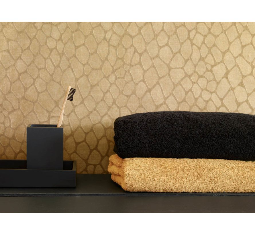 Handdoek set/3 LONDON kleur Black-09 (55x100cm)
