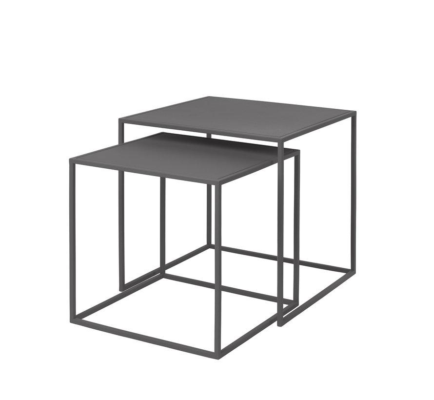 FERA sæt med 2 sideborde farve stålgrå (65985)