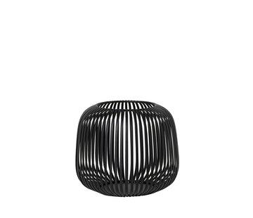 Blomus LITO windlight negro Ø20.5 cm (Pequeño)